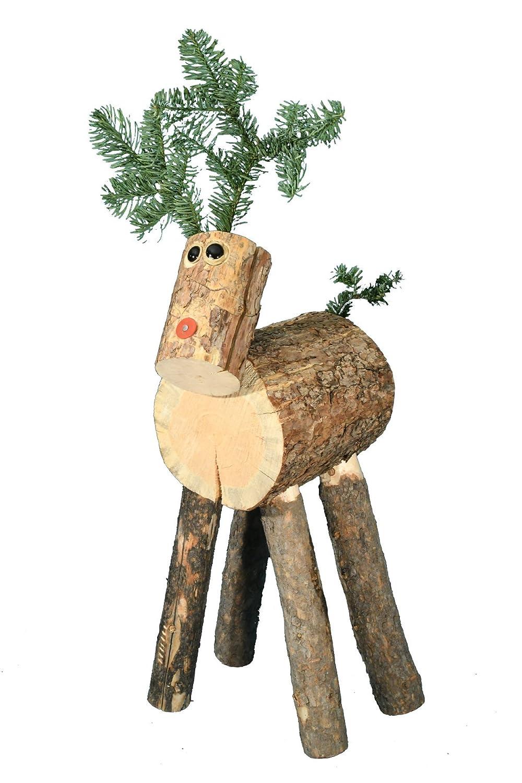 Reindeer Ranch Medium Log Snowman