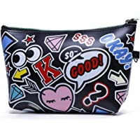 Electomania Waterproof Cosmetic Pouch Bag Mini Wallet for Girls Creative Zero Purse (Black, 21.5 * 12CM)