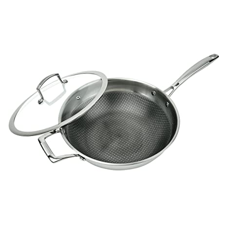 Amazon.com: MasterPan MP102 - Wok antiadherente de 3 capas ...