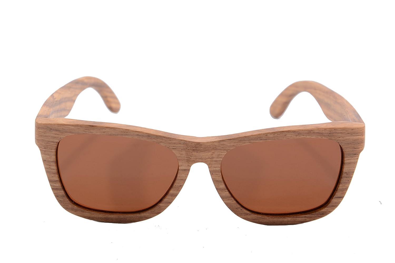 SHINU Holz Sonnenbrille Oval polarisierte UV400 Sonnenbrillen Herren ...