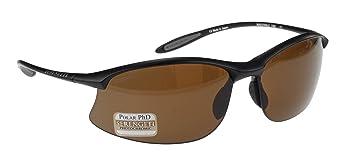 Serengeti Maestrale - Gafas de sol polarizadas y fotocromáticas (lente marrón), color negro