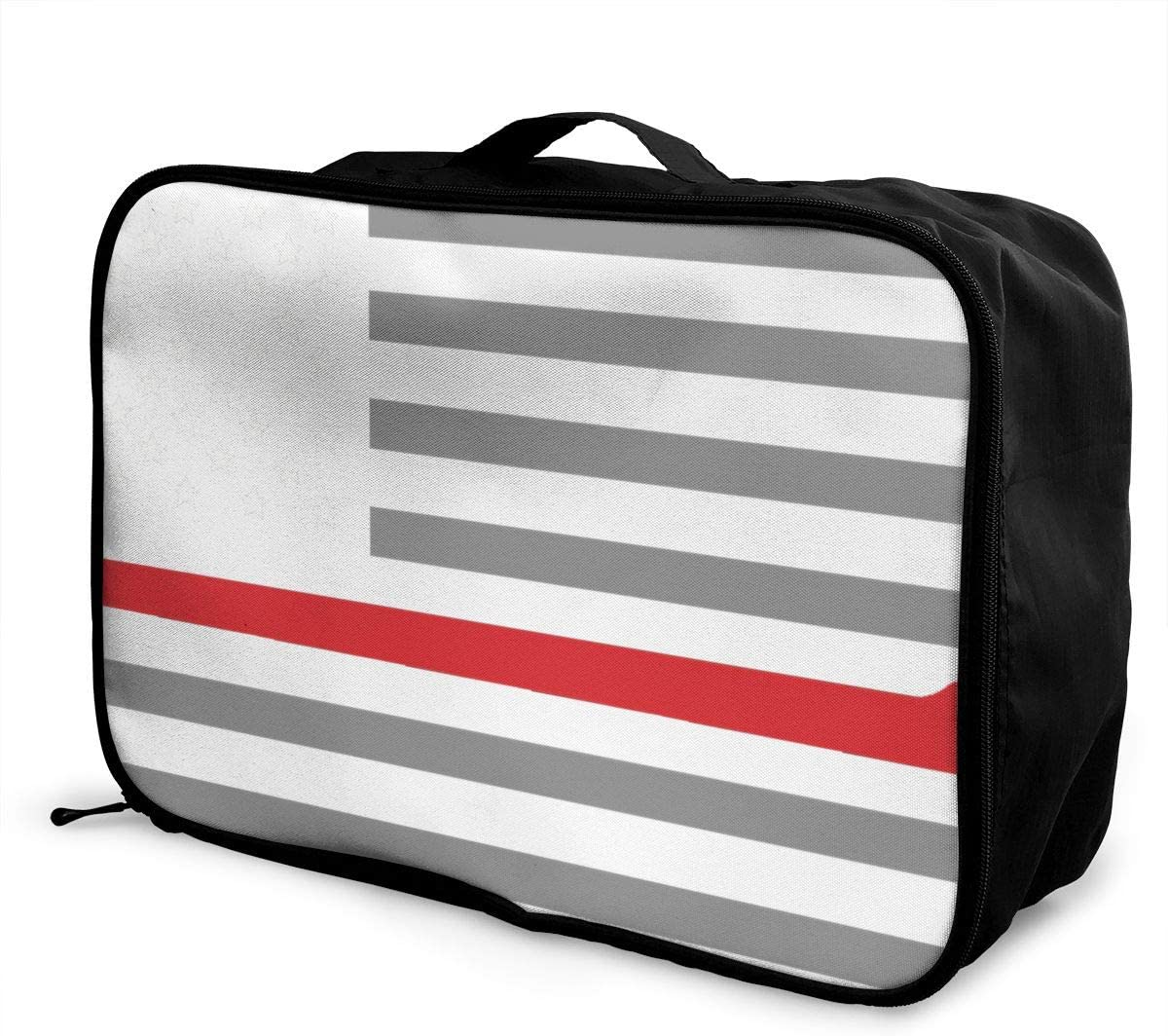 Thin Red Line Flag Interesting Mens And Womens Travel Folding Bags Sports Waterproof Light Travel Bags Gym