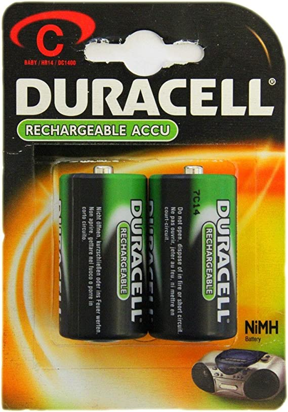2x Duracell Batteries Baby C Hr14 Dc 1400 Nimh 1 2 V Elektronik