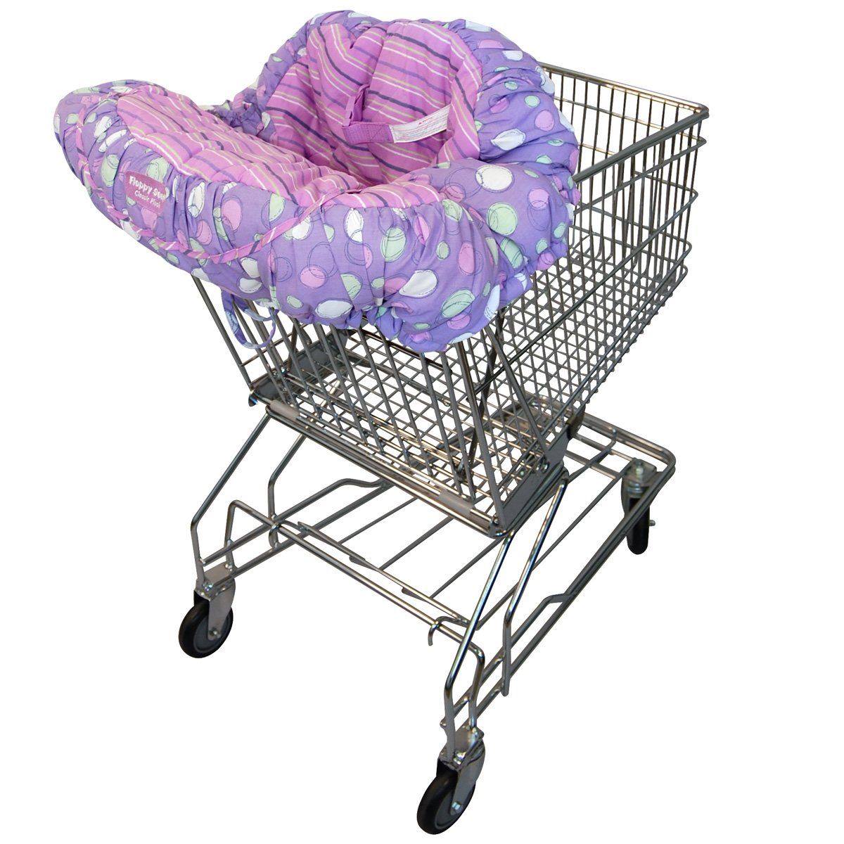 Floppy Seat® Shopping Cart and High Chair Cover, EZ Carry BagTM Style -Grape Sorbet Floppy Products Inc