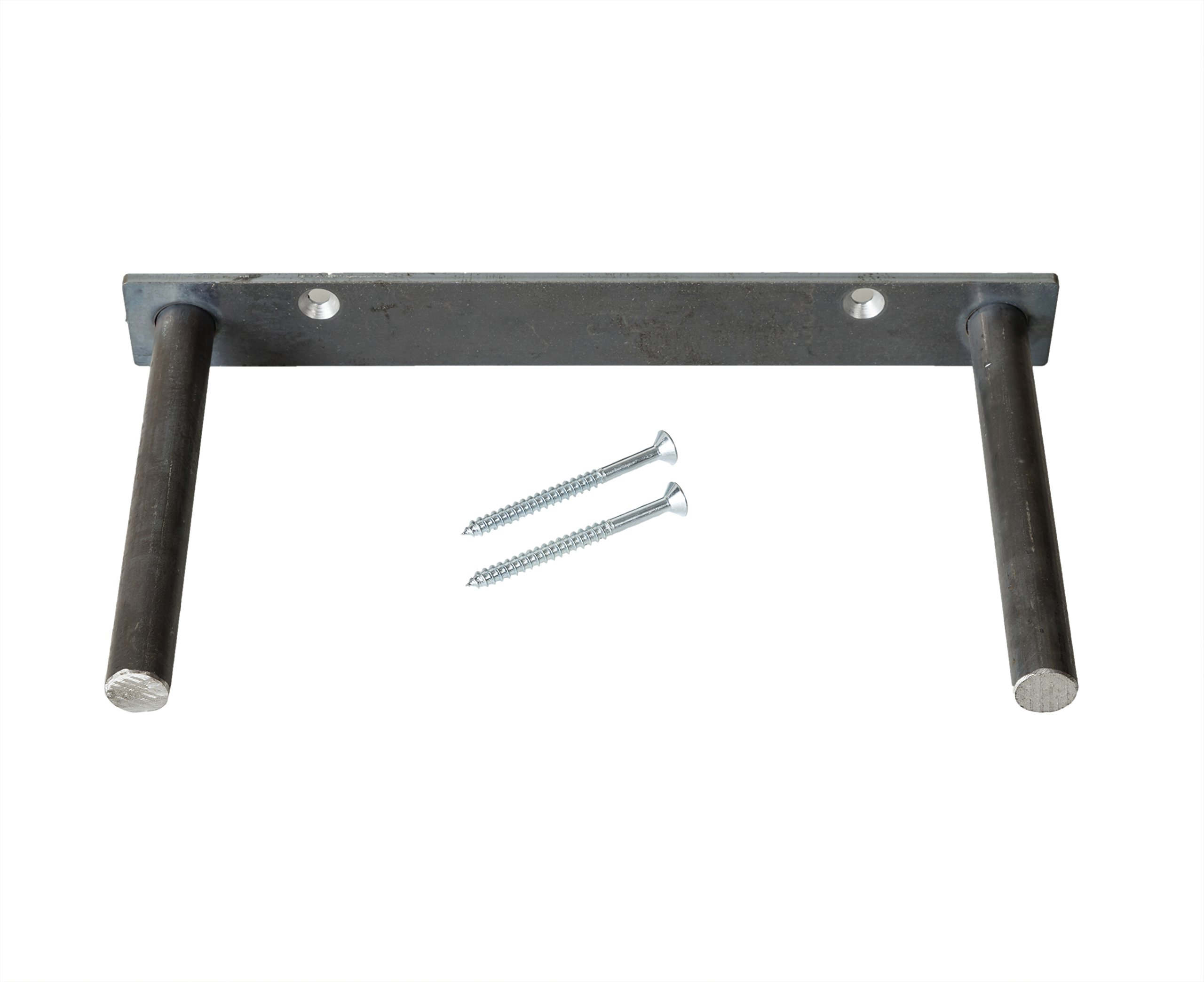 Floating Shelf Bracket - Heavy Duty Solid Steel Mounting Support (12'') Made in The USA