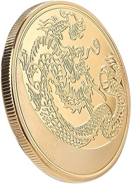 Dragón Challenge monedas chino colección conmemorativa negocios y vacaciones decoración regalos: Amazon.es: Oficina y papelería