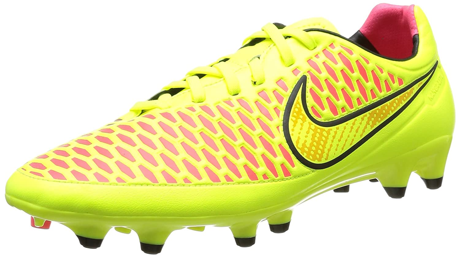 NIKE Men's Magista Orden FG Soccer Cleat B00GCB5GBO 8 D(M) US|VOLT/BLACK/HYPER PUNCH/MTLC GOLD COIN