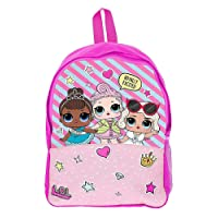 L.O.L. Surprise ! School Bag for Girls Pink Backpack LOL Dolls Confetti Pop Back to School Essentials Rucksack for Girl