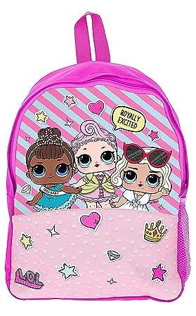 LOL Surprise! Sac a Dos Poupées Lol Confetti Pop pour Petite Fille Cartable Primaire Enfant
