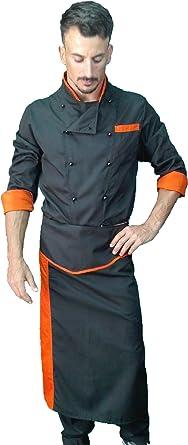 tessile astorino - Conjunto de cocinero o chef, pantalón, chaqueta y delantal, varios colores, para hombre o mujer, tallas de XS a XXXXL, fabricado en Italia: Amazon.es: Ropa y accesorios