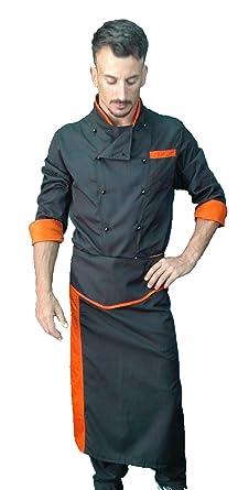 Uniforme de chef, chaqueta pantalon y delantal, para hombre ...