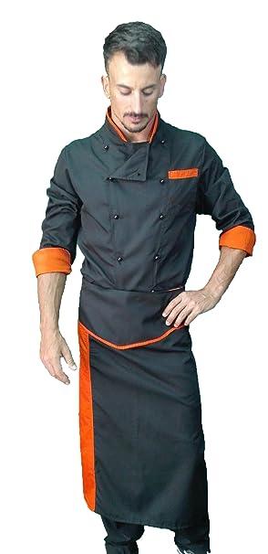 a04d7bf11bc Uniforme de Chef, Chaqueta Pantalon y Delantal, para Hombre y Mujer, Camisa  de
