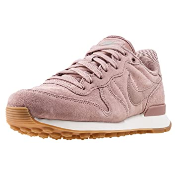 nike damen internationalist rosa leder/textil sneaker
