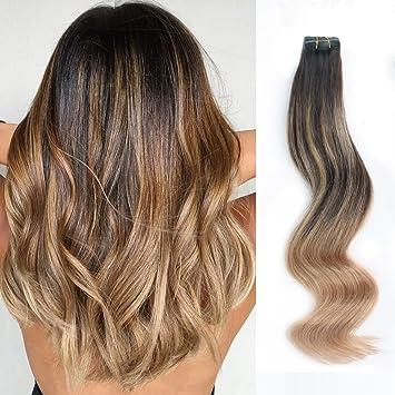 Amazon Com Amazingbeauty Sun Kissed Balayage Hair Extensions Tape