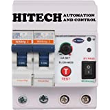 Hitech Plastic 32A ELCB and RCCB Electronic Shock Guard (White)