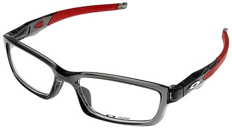 b1f2dec5f6 Oakley Crosslink OX8027-1453 Eyeglass Grey Smoke White Red Frame ...