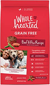 WholeHearted Grain Free All Life Stages Beef & Pea Formula Dry Dog Food, 40 lbs.