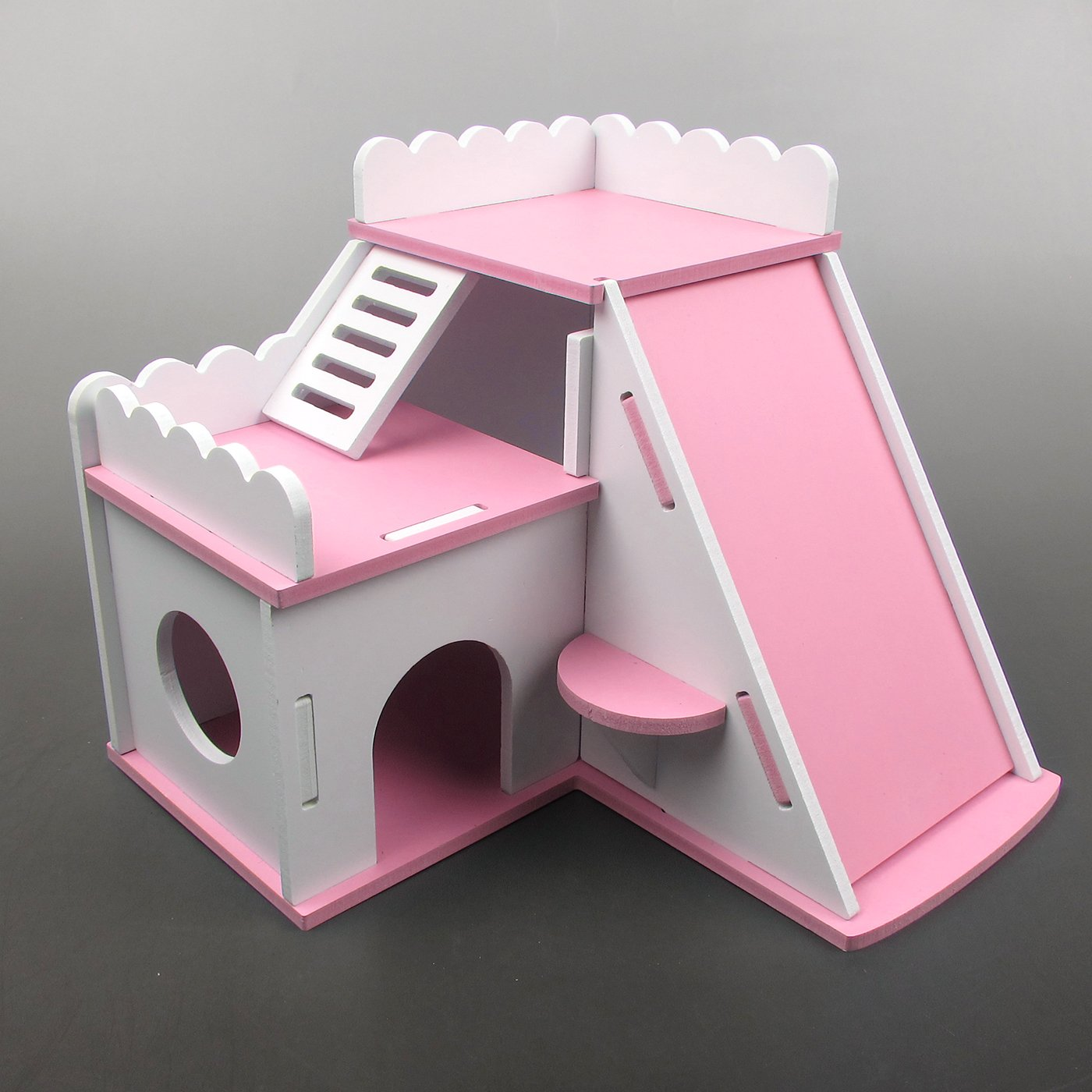 Alfie Pet by Petoga Couture - Eissa Living Hut for Mouse, Chinchilla, Rat, Gerbil and Dwarf Hamster - Color: Pink