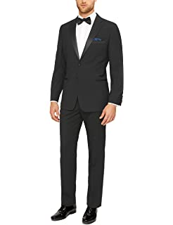 Amazon.com: 3 pcs chaleco + corbata + pañuelo azul real Moda ...