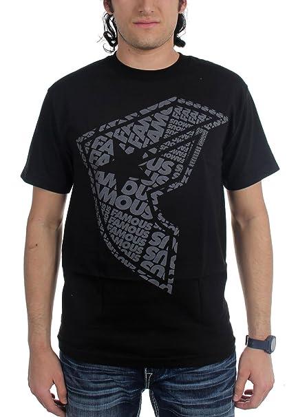 Famosas estrellas y correas para hombre famtype Boh manga corta T-Shirt/Tee - negro -: Amazon.es: Ropa y accesorios