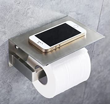 Toilet Paper Holder  APL SUS304 Stainless Steel Bathroom Paper Tissue  Holder with Mobile Phone Storage. Amazon com  Toilet Paper Holder  APL SUS304 Stainless Steel
