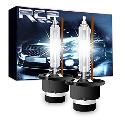 RCP - D2S4 - (A Pair) D2S/ D2R 4300K Xenon HID Replacement Bulb Factory White Warm White Metal Stents Base 12V Car Headlight Lamps Head Lights 35W: Automotive
