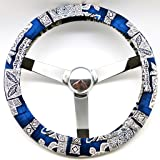 Mana Trading Handmade Steering Wheel Cover Tribal Blue Turtles