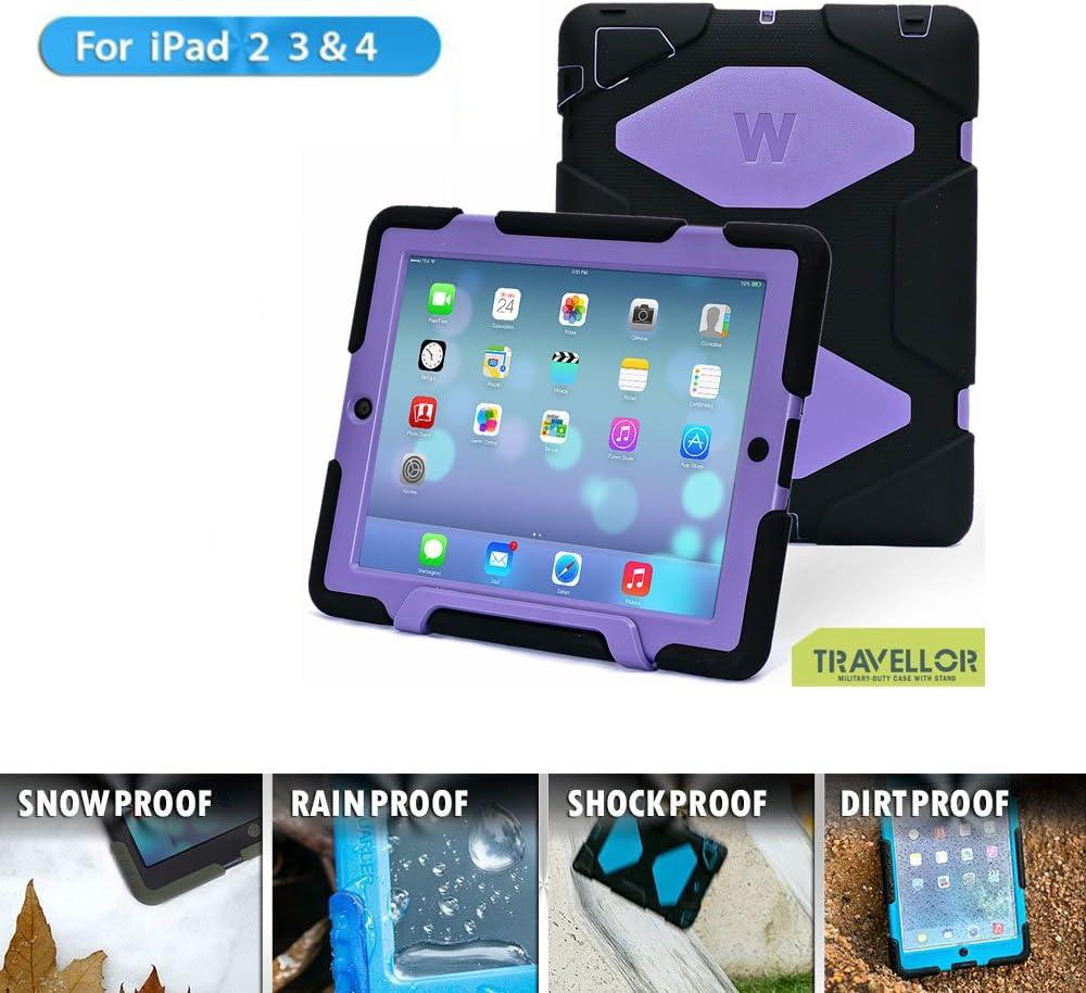 Travellor Apple iPad 2//3//4 Case Winpartner Travellor Silicone Protective Case