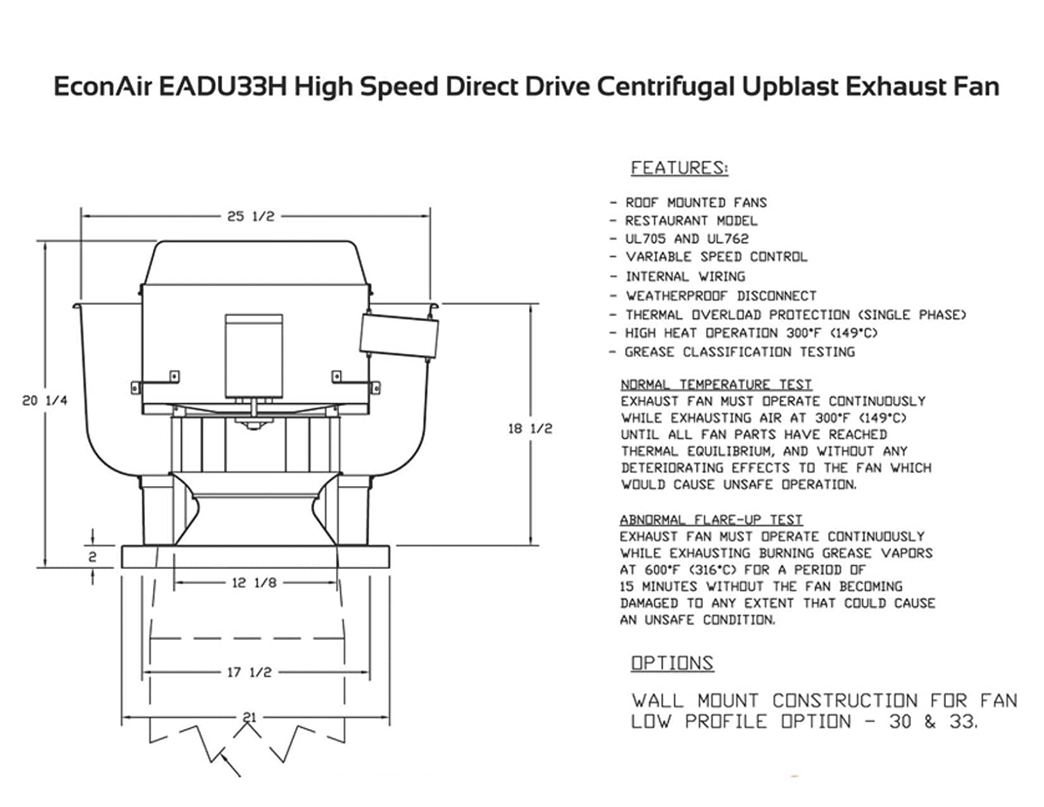 1000 Cfm Direct Drive Upblast Restaurant Exhaust Fan With 1175 Commercial Kitchen Hood Wiring Schematic Wheel Motor 333 Hp 115 V Single Phase