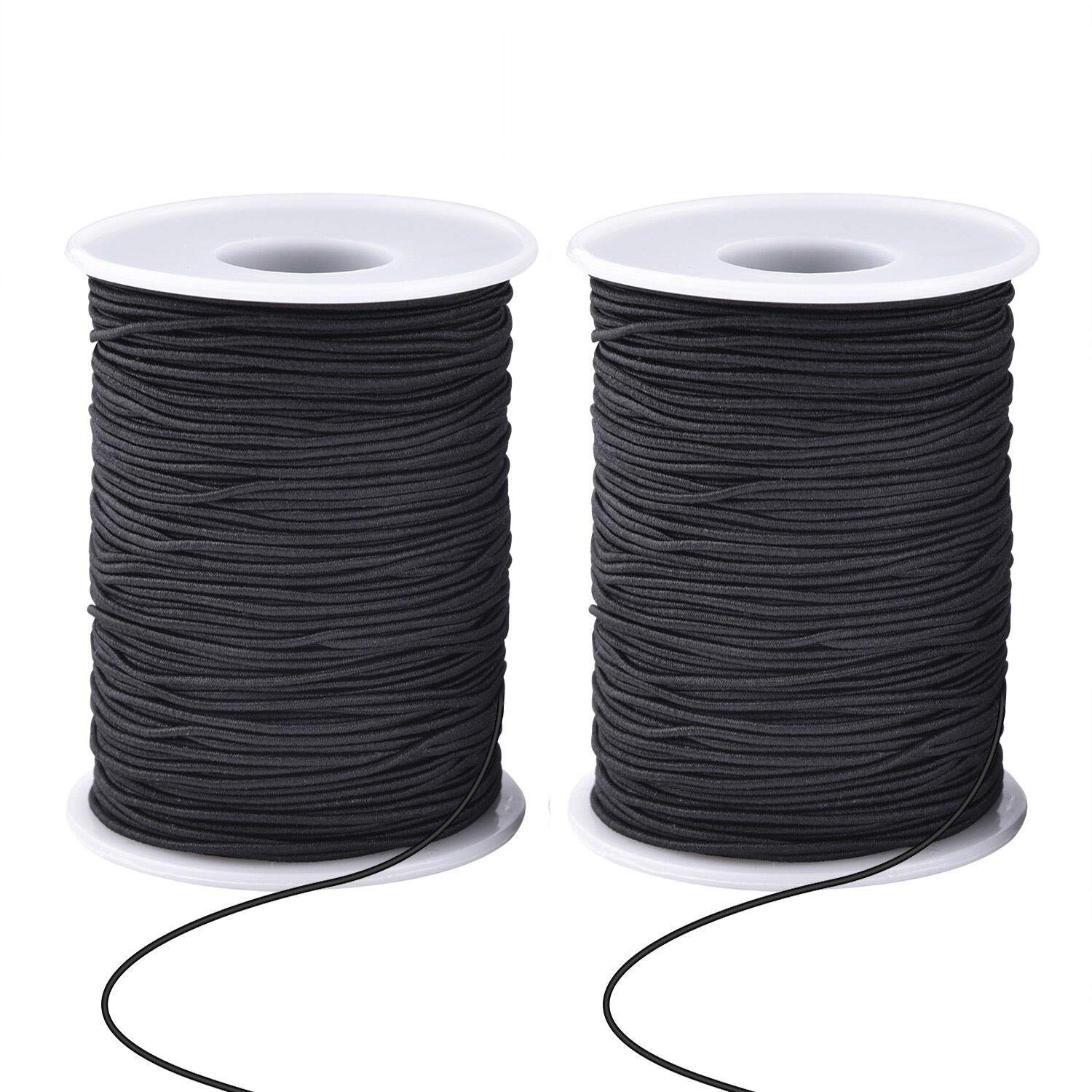 Zealor 2 Roll 1 mm Elastic String Cord Elastic Thread Beading String Cord for Jewelry Making Bracelets Beading 100 Meters//Roll White