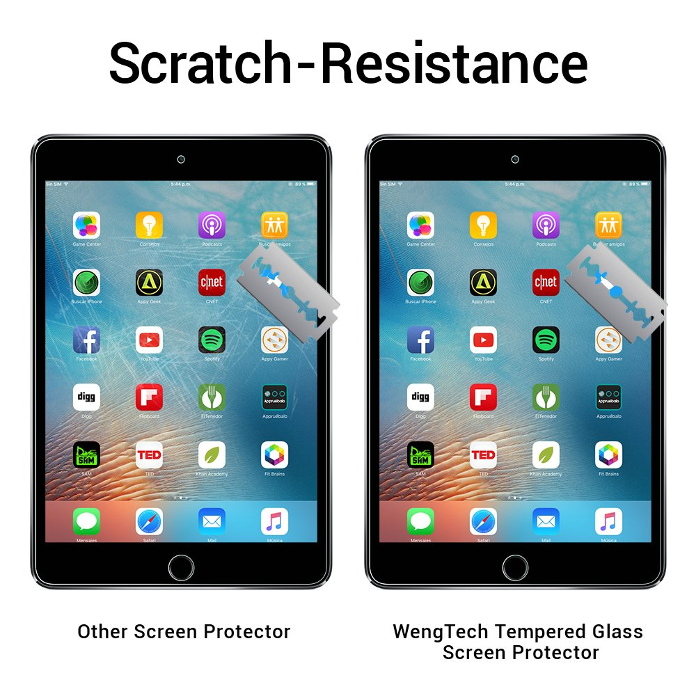 iPad Mini 1/2/3 Glass Screen Protector, WengTech 9H Hardness Scratch-Resistant Anti-Fingerprint Tempered Glass Screen Protector for iPad Mini 1/iPad Mini 2/iPad Mini 3