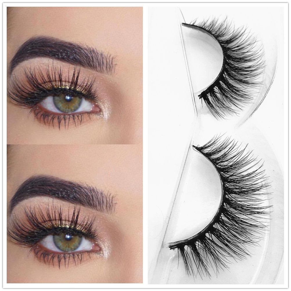 11929a71127 Amazon.com : Miss Q 3D Mink Eyelashes False Extensions Natural Long Lashes  With Volume for Women's Make Up Handmade Soft Fake Eye Lash (Aries) : Beauty