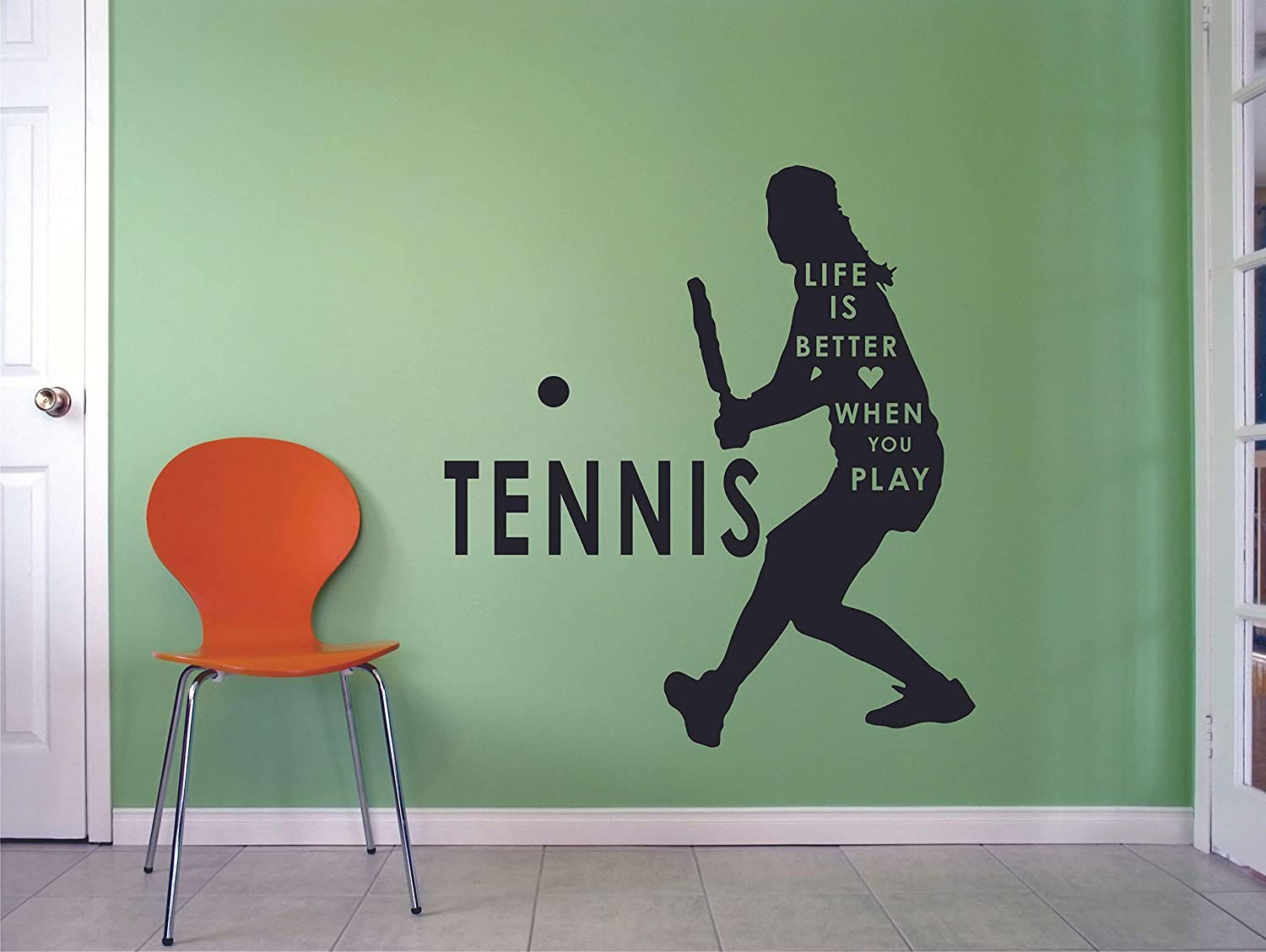 Amazon.com: Tennis Wall Decals For Girls Bedroom / Womens ...