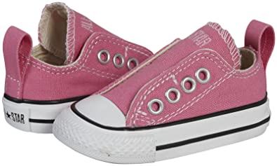 fa55e0479b6c42 Converse Baby Girls  All Star Simple Slip - Chuck Pink - 2 M US Infant