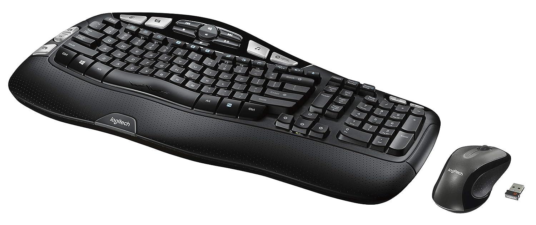 Logitech MK550 - Teclado (RF inalámbrico, Negro, AA, USB CD-ROM, Windows Vista/XP): Amazon.es: Informática