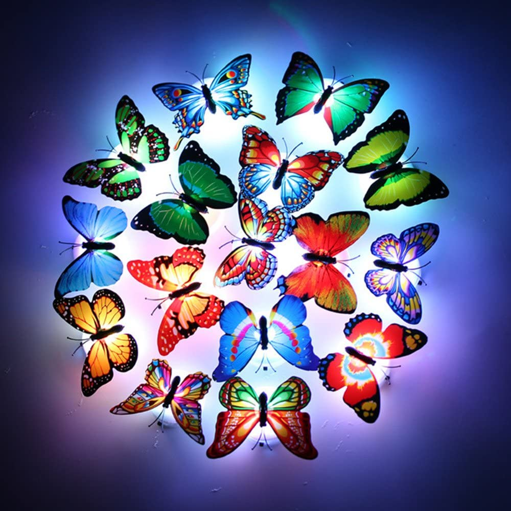 3D Butterfly Wall Decors for for Halloween or Christmas, Removable Butterfly Stickers DIY Art Crafts Decor for Kids Room Bedroom Decor Home Decorations (12 Pieces)