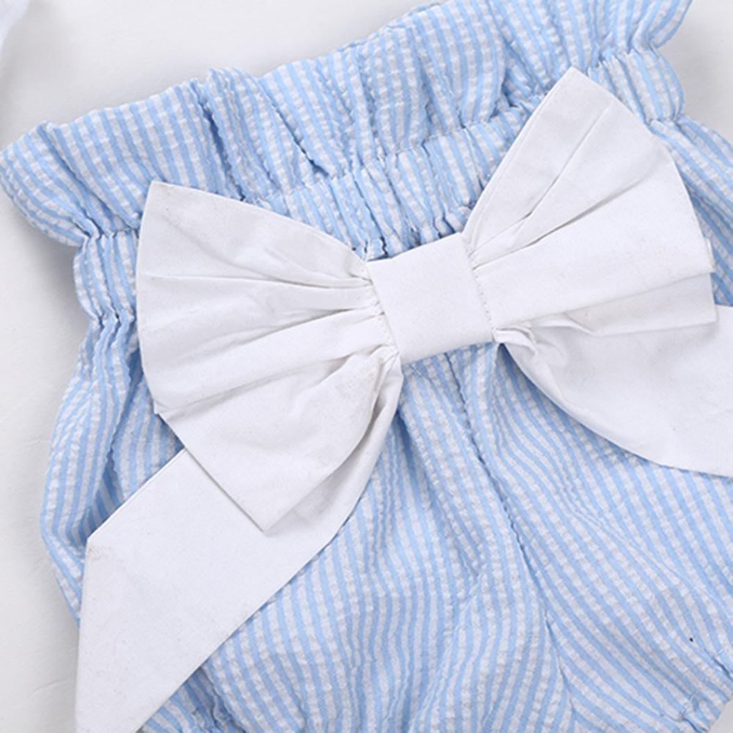 be557b08d Pantalones Cortos Pantalones Cortos FAMILIZO Bebé ReciéN Nacido NiñAs  Bowknot Camiseta Conjuntos De Ropa De La ...