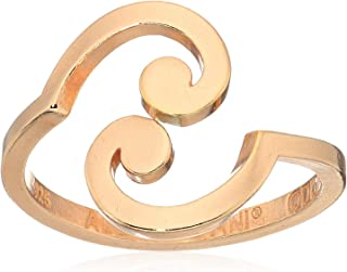 product image for Alex and Ani 'A Wrinkle in Time' 14k Rose Gold Plated Spiral Ring Wrap, Size Adjustable