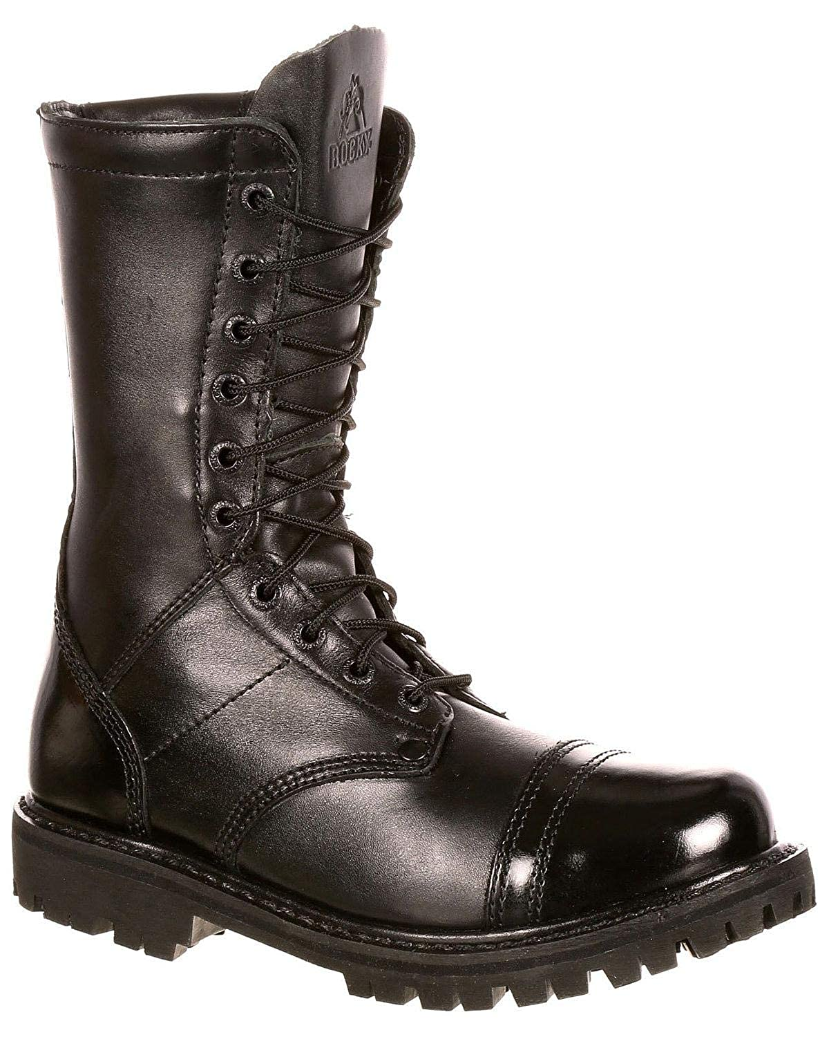 173433a16e9 Rocky Outdoor Boots Womens Zipper Leather Tall Raven FQ0004090  Amazon.ca   Shoes   Handbags
