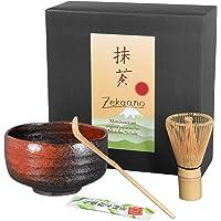 zekaano Juego de té Matcha–Original Japonesa Cuenco Chawan