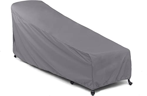 Covermates Chaise Lounge Cover 30W x 85D x 40H Elite 300D Stock-Dyed Polyester Elastic Hem for Secure Fit Buckle Straps 3 YR Warranty Weather Resistant – Charcoal