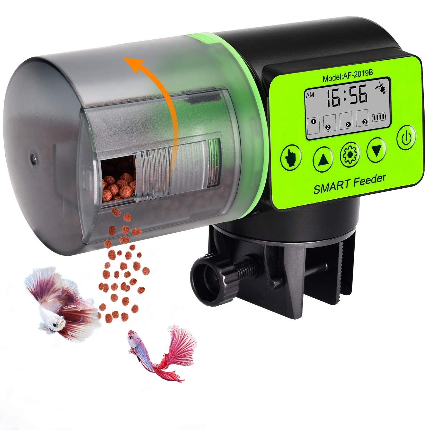 Automatic Fish Feeder Auto Fish Food Dispenser Aquarium Tank Weekend Vacation Directional Fish Feeder with Timer…