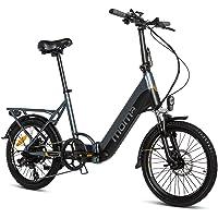 Moma Bikes Bicicleta Electrica Plegabe Ebike 20PRO, Aluminio, Shimano 7V, Batería Litio integrada y extraible 48V 13Ah