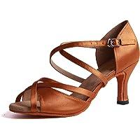 Syrads Zapatos de Baile Latino para Mujer Salsa