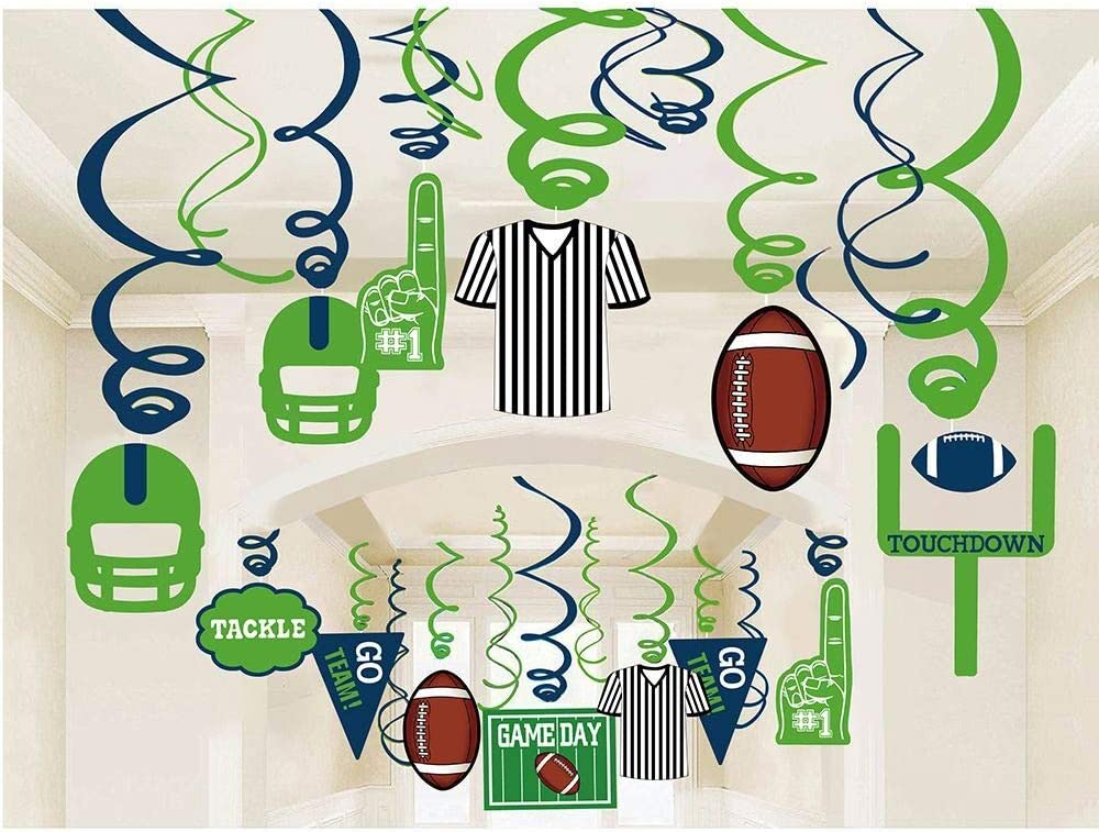 30ct American Football Hanging Swirl Decorations Sport Game Day