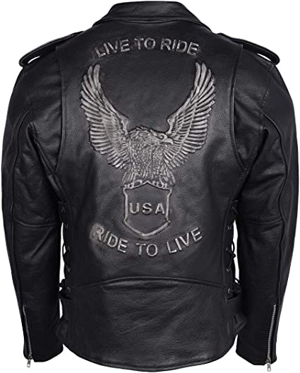 Men's Eagle Embossed Live to Ride