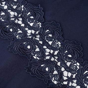 zhouzhou666 Frauen Vintage Vintage Halsausschnitt Ärmellose Blumen Besticktes knielanges Cocktailkleid-M_Dunkelblau-A101: Küche & Haushalt