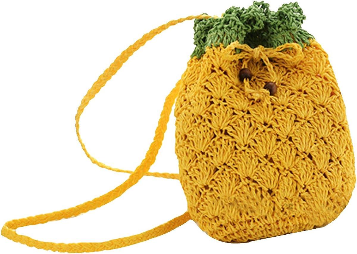 Buddy Handbag Cute Straw Crossbody Bag Weave Outdoor Shoulder Bag Mini Phone Purse