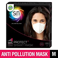 Dettol Siti Shield Protect+ N95 Anti-Pollution Smart Mask, Unisex (Medium)