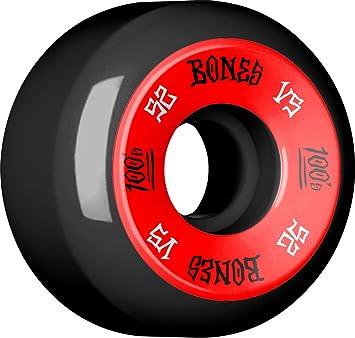 Huesos ruedas 100 s V5 52 x 34 negro juego de 4 ruedas de Skate